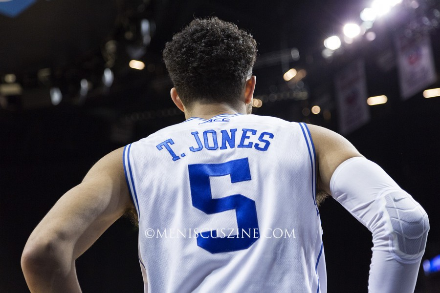 "Tyus Jones: Point Guard, 6'2"", 184 lbs., 19 years old. (photo by Kwai Chan / Meniscus Magazine)"