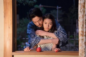 "Hiroki Hasegawa and Fumi Nikaido in ""This Country's Sky."" (still courtesy of the Japan Society)"