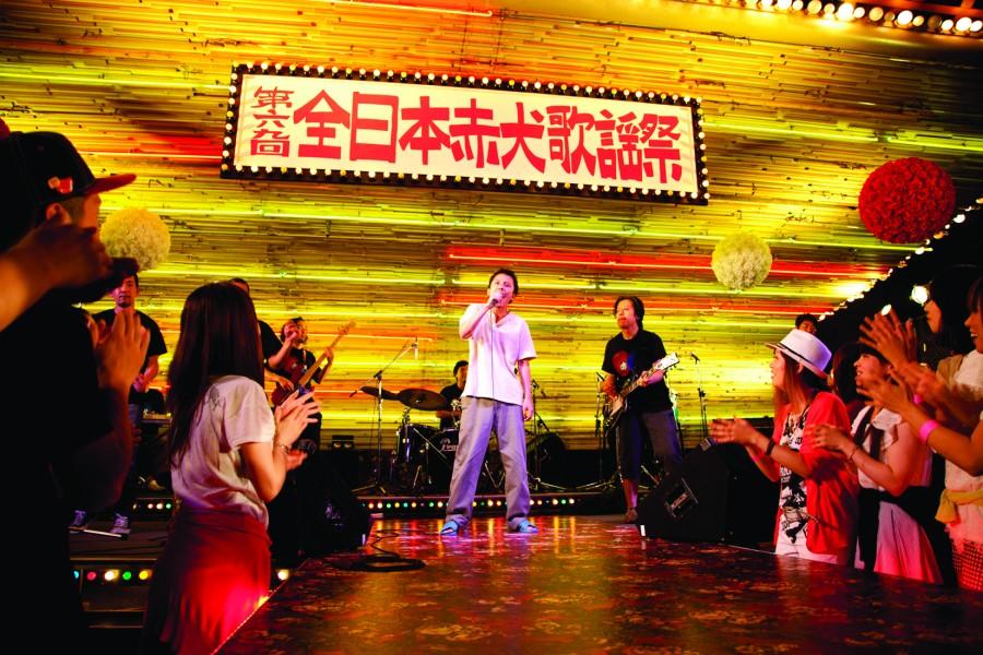 """Subaru Shibutani as Pochi man in """"La La La at Rock Bottom."""" (still courtesy of Misono Universe Film Partners)"""