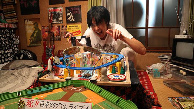 "Hiroki Hasegawa as Ryoichi in ""Love & Peace.""  (still courtesy of the Fantasia International Film Festival)"