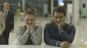 "Angelica Panganiban (left, as Mace) and JM De Guzman (Anthony) in ""That Thing Called Tadhana."" (still courtesy of the Bucheon International Fantastic Film Festival)"