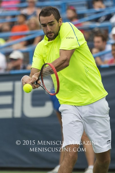 Marin Cilic is still seeking his first title of 2015. (photo by Kwai Chan / Meniscus Magazine)