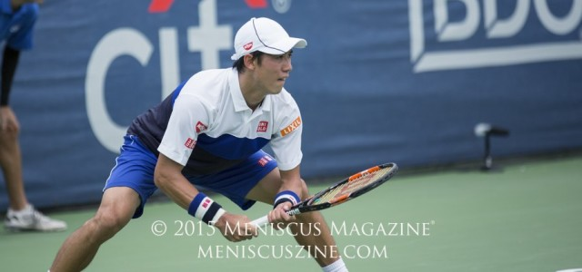Kei Nishikori, the 2015 Citi Open champion, talked about his new footwear and a little bit about his on-court fashion routine in Washington, D.C.