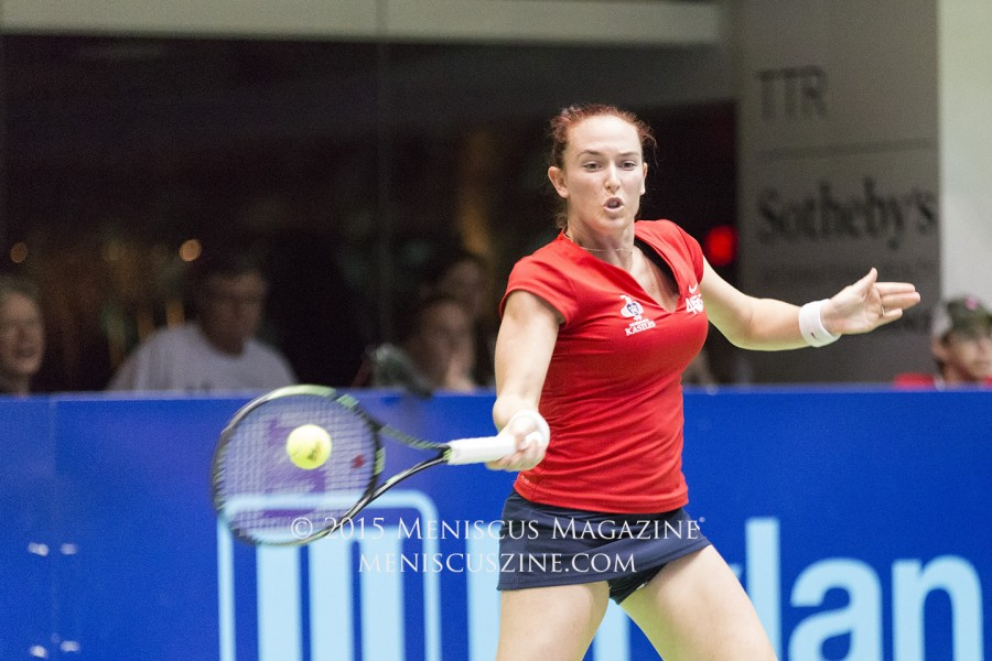 Madison Brengle stepped in for several occasions, filling in for an injured Serena Williams who was supposed to play for Washington this season. (photo by Kwai Chan / Meniscus Magazine)