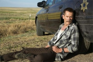 "Kevin Bacon as Sheriff Kretzer in ""Cop Car."" (still courtesy of Focus World)"