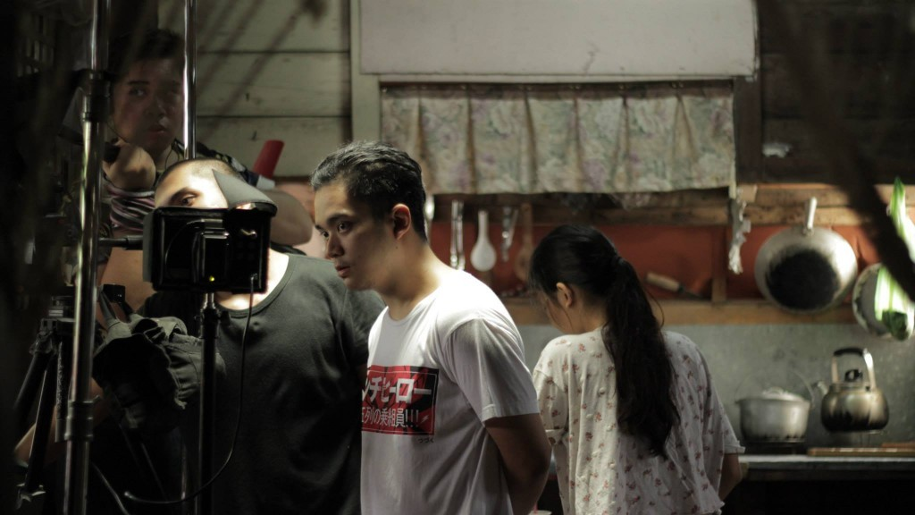 "Director Kenneth Lim Dagatan on the set of ""Sanctissima."" (photo courtesy of Kenneth Dagatan)"