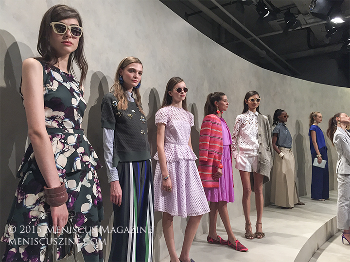 The Banana Republic Spring 2016 presentation took place at The Highline Stages. (photo by Megan Lee / Meniscus Magazine)