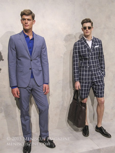Menswear at the Banana Republic Spring 2016 presentation in New York. (photo by Megan Lee / Meniscus Magazine)
