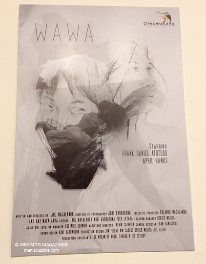 "The Cinemalaya 2015 poster for Angelie Mae Macalanda's short film, ""Wawa."" (photo by Rex Baylon / Meniscus Magazine)"