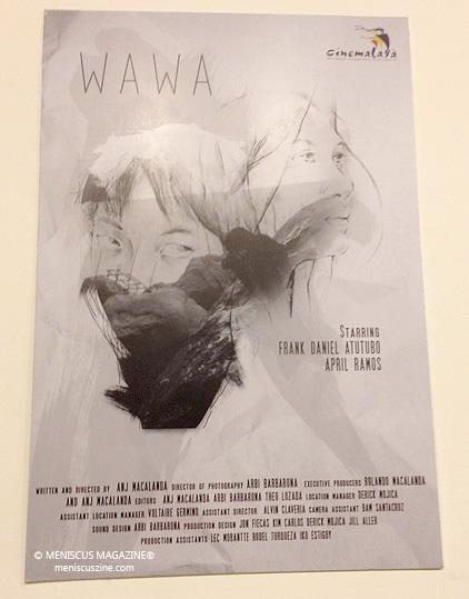 "The Cinemalaya 2015 poster for Angelie Mae Macalanda's short film, ""Wawa."" (photo by Rex Baylon / Meniscus Magazine)"