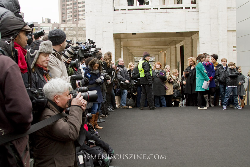 Photographers wait for the VIPs to arrive for the ribbon cutting. (photo by Kwai Chan / Meniscus Magazine)