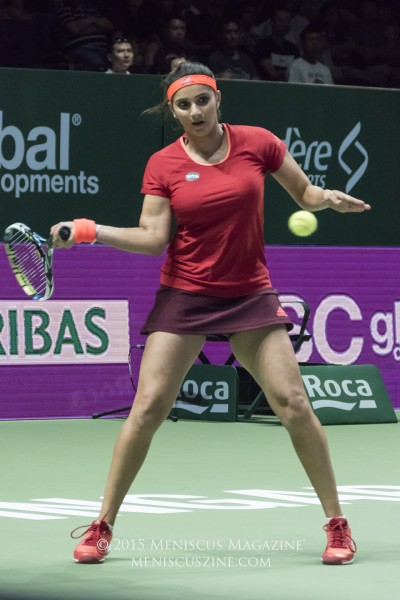 Sania Mirza started the year ranked No. 6 in the world, but ascended to the top after partnering with Martina Hingis. (photo by Yuan-Kwan Chan / Meniscus Magazine)
