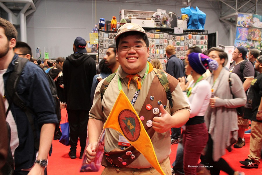 New York Comic-Con, a.ka. an early prep for Halloween. A grown-up Boy Scout hits the trade show. (photo by Shelly Xu / Meniscus Magazine)