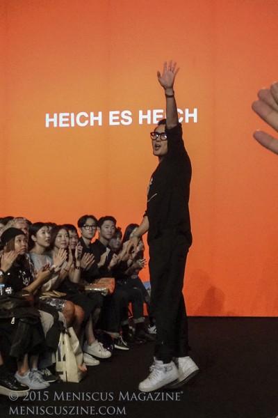 HEICH ES HEICH designer Han Sang-hyeok. (photo by Rex Baylon / Meniscus Magazine)
