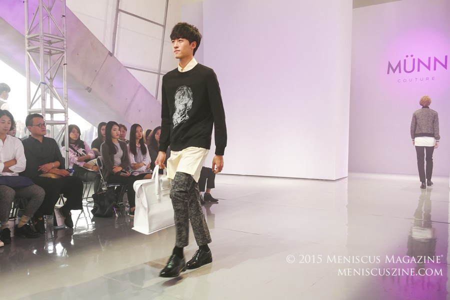 Prior to launching his label Munn, designer Han Hyun-min worked at Korean labels WOOYOUNGMI and Leigh. (photo by Yuan-Kwan Chan / Meniscus Magazine)