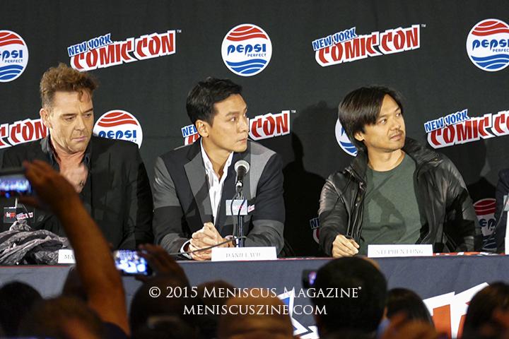 Marton Csokas (left), Daniel Wu (center) and Stephen Fung. (photo by Yuan-Kwan Chan / Meniscus Magazine)
