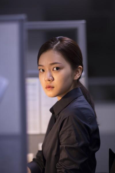 "Ko Ah-sung in Hong Won-chan's ""Office."" (still courtesy of the New York Korean Film Festival)"