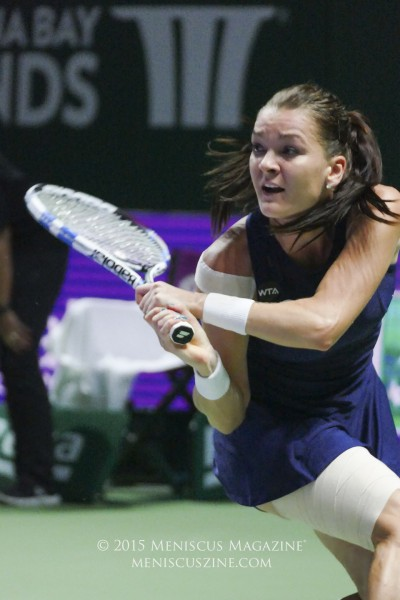 Agnieszka Radwanska had just five unforced errors in her match against Petra Kvitova. (photo by Yuan-Kwan Chan / Meniscus Magazine)