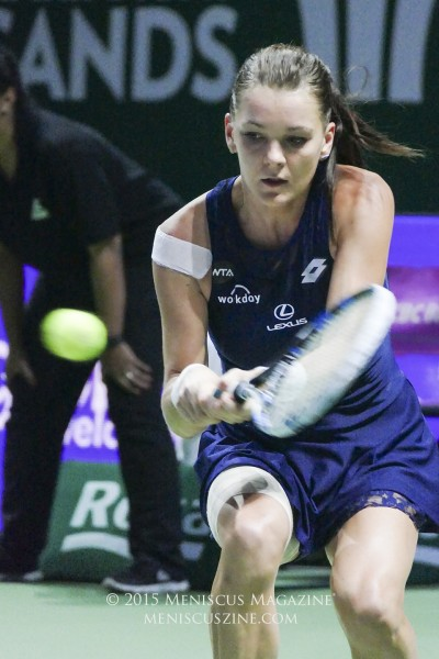 Agnieszka Radwanska came back from a break down in the final set to win the 2015 WTA Finals, the biggest title of her career. (photo by Yuan-Kwan Chan / Meniscus Magazine)