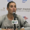 Following her last match as a professional tennis player - a 7-5, 6-1 loss to Maria Sharapova - Flavia Pennetta talked to the press at the 2015 WTA Finals.