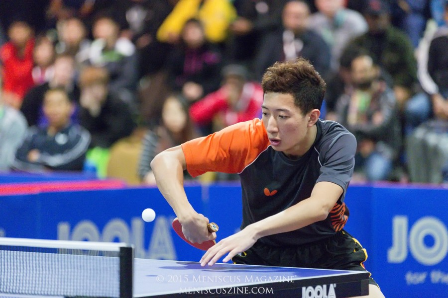 Yijun Feng of AITTA, also the reigning U.S. champion in men's singles and doubles, and mixed doubles. (photo by Kwai Chan / Meniscus Magazine)