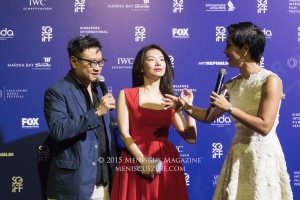 """In the Room"" director Eric Khoo (left) and actress Michelle Goh (center). The duo last teamed up on Khoo's breakthrough hit, ""Mee Pok Man."" (photo by Yuan-Kwan Chan / Meniscus Magazine)"
