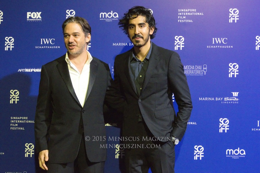 """The Man Who Knew Infinity"" director Matthew Brown (left) and actor Dev Patel. (photo by Yuan-Kwan Chan / Meniscus Magazine)"