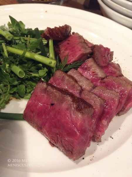 One-hundred grams of Ozaki wagyu beef. (photo by Yuan-Kwan Chan / Meniscus Magazine)