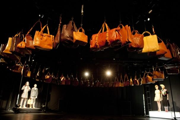 Three guest designers and labels contributed to a special collection for the brand genten at the Leather Japan 2012 presentation at New York Fashion Week: AGURI SAGIMORI, motonari ono, and No,No,Yes! (photo courtesy of LEATHER JAPAN 2012)