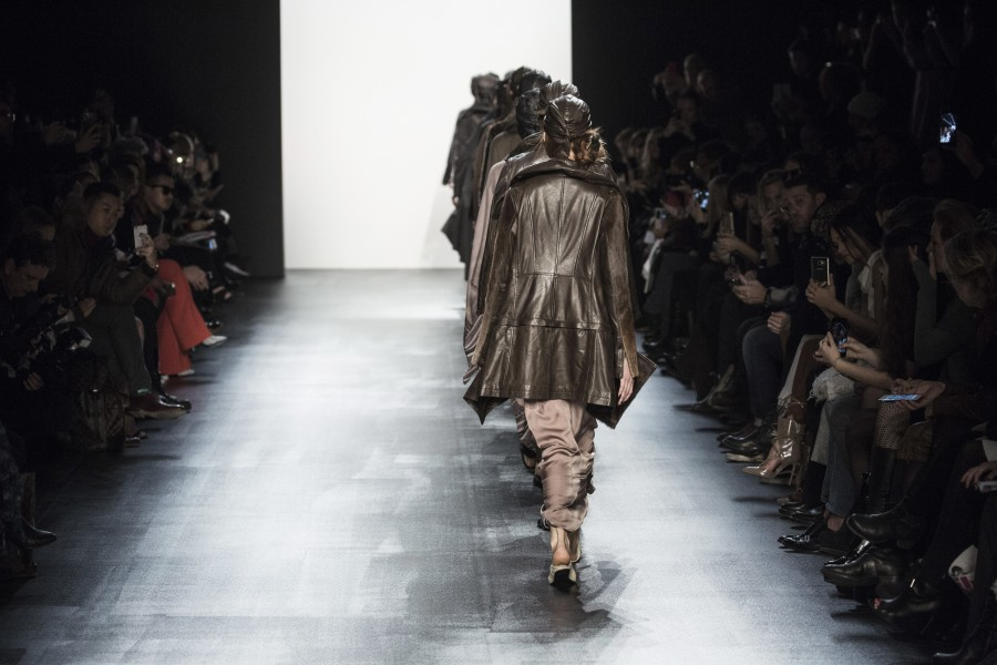 "According to the show notes, the Nicholas K label is ""shaped around the principal of nomadism...[it is] a brand that could be worn beyond each season."" (photo courtesy of Nicholas K)"