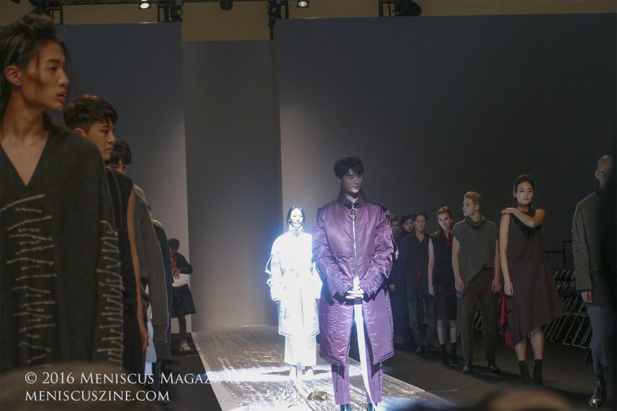 Models during the finale rehearsal for the Soulpot Studio Fall 2016 show. (photo by Yuan-Kwan Chan / Meniscus Magazine)