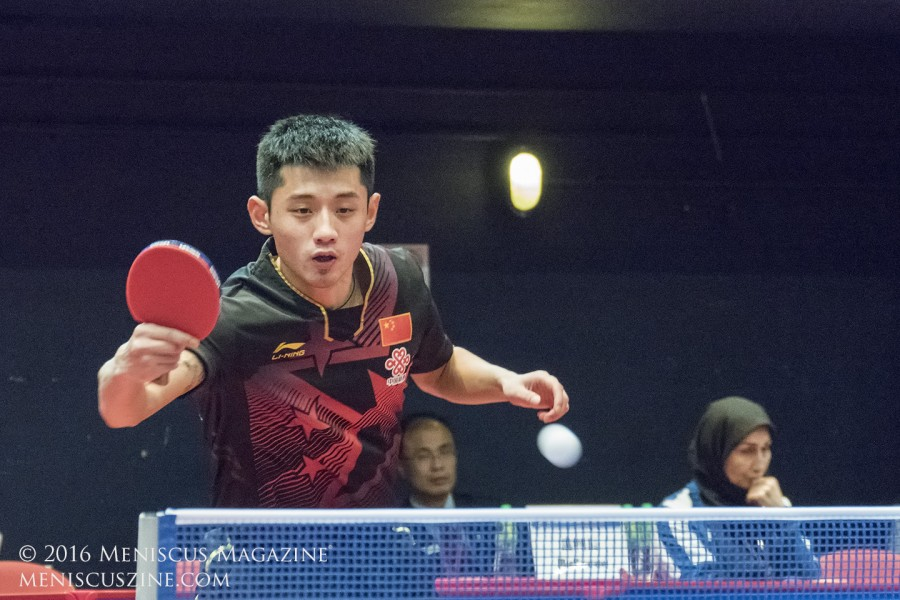 Will a bad back hurt Zhang Jike's chances to compete in the Rio Olympics? (photo by Yuan-Kwan Chan / Meniscus Magazine)