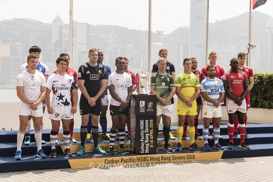 Captains of the teams that have qualified into the main draw of this year's Hong Kong Sevens. (photo by Yuan-Kwan Chan / Meniscus Magazine)