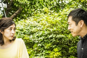 "Yuko Takeuchi (left) and Teruyuki Tagawa in ""Creepy."" (still © 2016 ""CREEPY"" FILM PARTNERS)"
