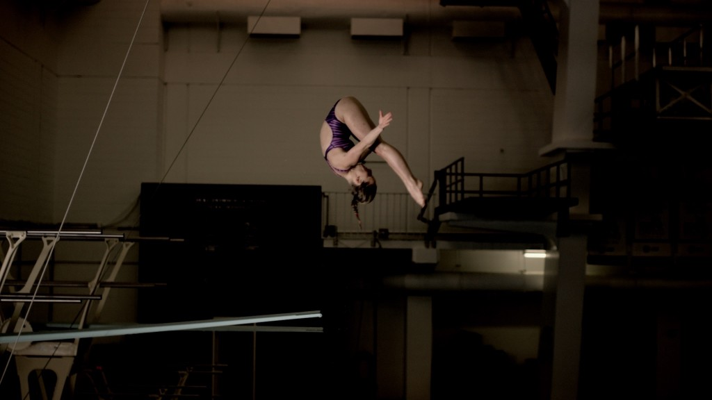Diver, 2012 Olympic silver medalist and medical student Abby Johnston. (photo courtesy of Tribeca Digital Studios)