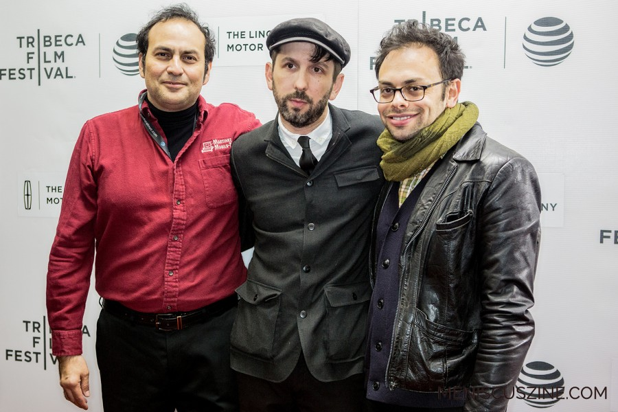 "How did the film ""Actor Martinez"" get made? A real-life aspiring actor from Denver, Arthur Martinez (left), decided to hire directors Mike Ott (center) and Nathan Silver (right) to make a movie about his life, in the hopes of starring in a feature film. (photo by Ekaterina Golovinskaya / Meniscus Magazine)"
