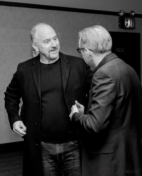"Actor Louis C.K. (left) at the ""Check It"" world premiere. (photo by Ekaterina Golovinskaya / Meniscus Magazine)"