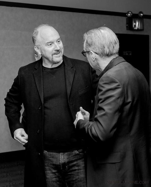 "Actor Louis C.K. (left) at the ""Check It"" world premiere. (photo by Ekaterina Golovinskaya / Meniscus Magazine)"