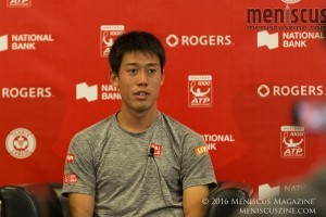 Kei Nishikori, currently ranked No. 6, has 11 ATP Tour singles titles. (photo by Kwai Chan / Meniscus Magazine)
