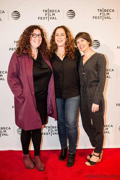 """Solitary"" producer Julie Goldman, director Kristi Jacobson and producer Katie Mitchell. (photo by Ekaterina Golovinskaya / Meniscus Magazine)"