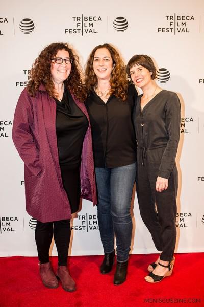 """Solitary"" producer Julie Goldman, director Kristi Jacobson and producer Katie Mitchell. (photo by Ekaterina Golovinskaya / Meniscus Magazine)"