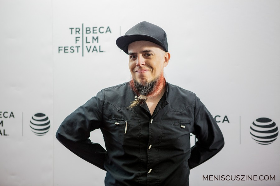 "Director Jose Villalobos Romero at the international premiere of his debut feature documentary, ""The Charro of Toluquilla."" (photo by Ekaterina Golovinskaya / Meniscus Magazine)"