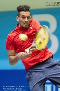 Nick Kyrgios in action for the Washington Kastles against the Orange County Breakers. (photo by Kwai Chan / Meniscus Magazine)