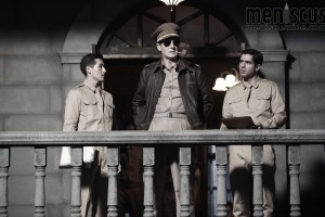 "Liam Neeson (center) as Gen. Douglas MacArthur in John H. Lee's ""Operation Chromite."" (still courtesy of CJ Entertainment)"