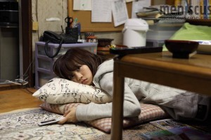 "Atsuko Maeda getting plenty of rest in ""Tamako in Moratorium."" (still courtesy of the Busan International Film Festival)"