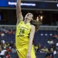 In a span of just two minutes and 23 seconds, Seattle's Stewart made 10 points, two rebounds and one blocked shot.