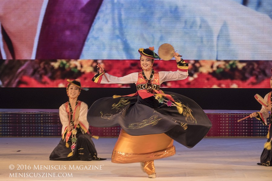 Dancers perform at the 2016 Pyongyang International Film Festival Opening Ceremony. (photo by Meniscus Magazine)
