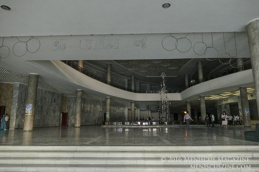 The interior of the Pyongyang International Cinema House. (photo by Meniscus Magazine)