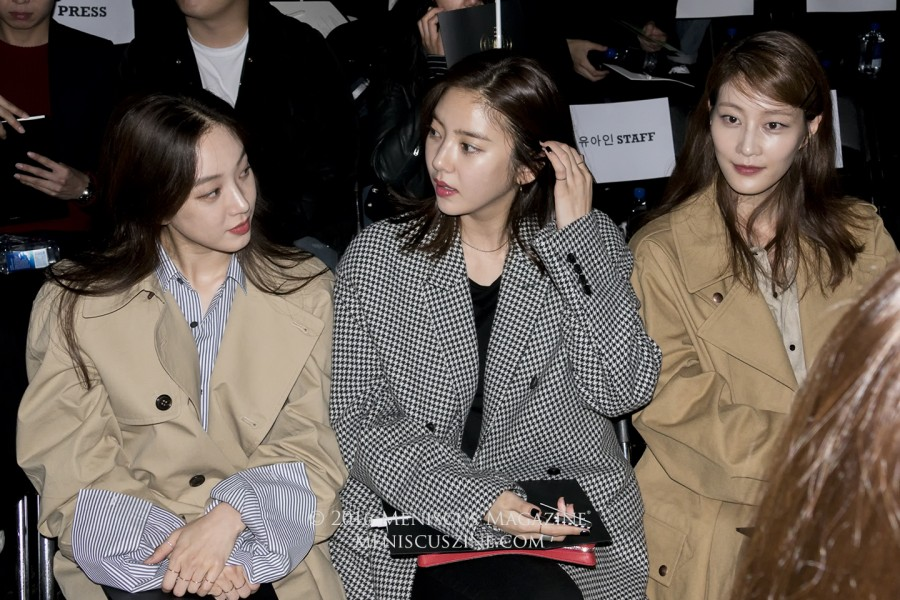 Actress Jung Ryeo-won (left), singer Son Dam-bi (center), and model Lee Hyun Yi (right). (photo by Yuan-Kwan Chan / Meniscus Magazine)