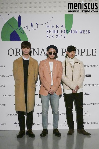 Yook Sung-jae (육성재), Jung Il-hoon (정일훈) and Lim Hyun-sik (임현식) of BTOB. Jung's blazer retails for 630,000 KRW (US$556). (photo by Yuan-Kwan Chan / Meniscus Magazine)